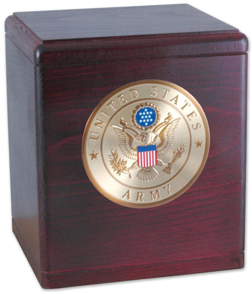 Freedom Military Urn in Rosewood