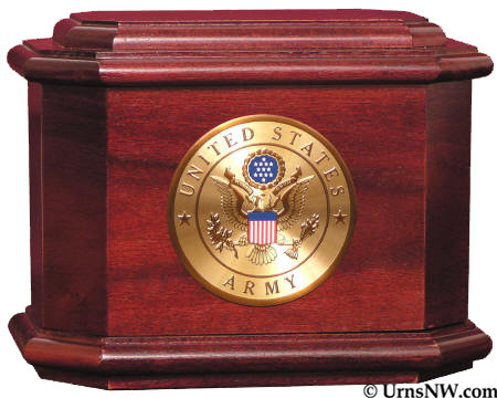 Patriot Cremation Urn - Rosewood