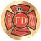 Fire Department Wood Urn