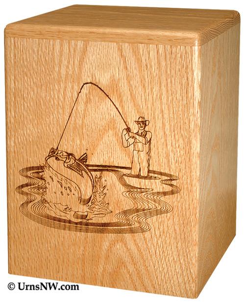 Fishing Scene Funeral Urn