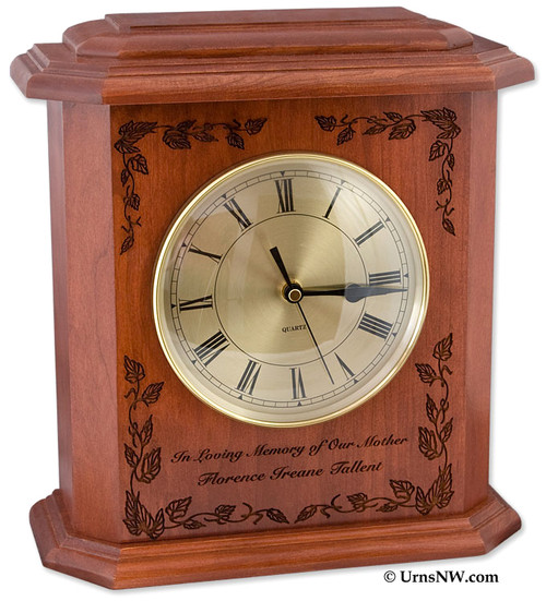 Autumn Leaves Clock Urn