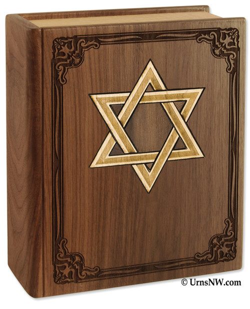 Star of David Book Urn