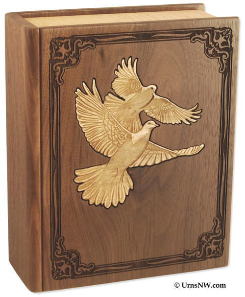 Bible Urn with Doves Book urn