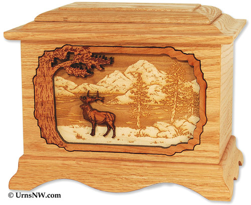 Elk Urn | Adult cremation urn