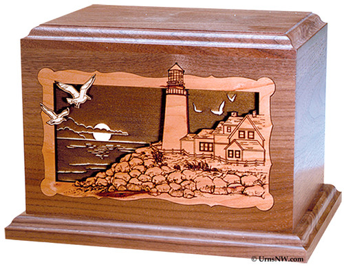 Lighthouse Wood Cremation Urn