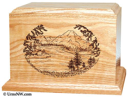 Mountain Lake Cremation Urn