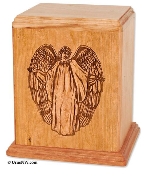 Guardian Angel Cremation Urn - Cherry
