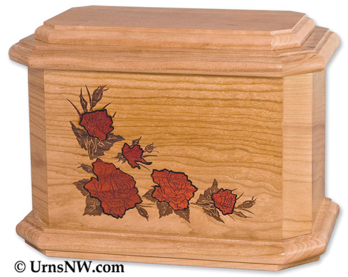 Roses Octagon Cremation Urn