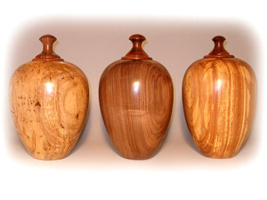 Maple, Walnut, and Elm Cremation Urns