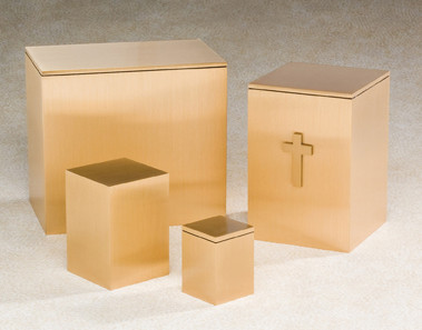 Bronze Companion Urn - Solitary Double Urn for Ashes