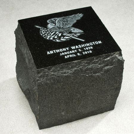 Garden Stone Granite Urn for Ashes