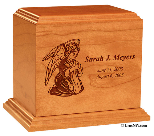 Angel Infant Urn with Inscription