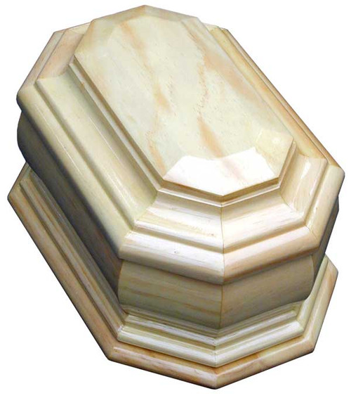 Devotion Wood Cremation Urn in Radiata