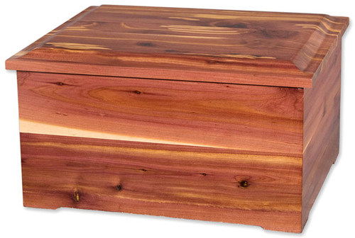 Cedar Memory Chest and Cremation Urn