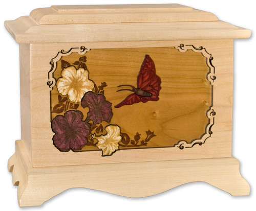 Butterfly Urn in Maple
