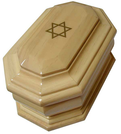 Star of David Urn | Radiata Pine Wood Cremation Urn