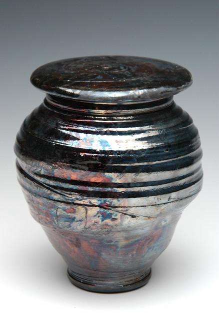 Raku Companion Urn | Raku Ceramic Companion Urns | New Black