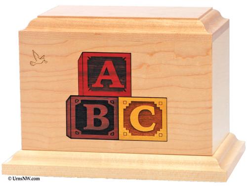 ABC Blocks Child Urn