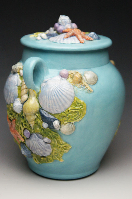 Hand made ceramic cremation urn