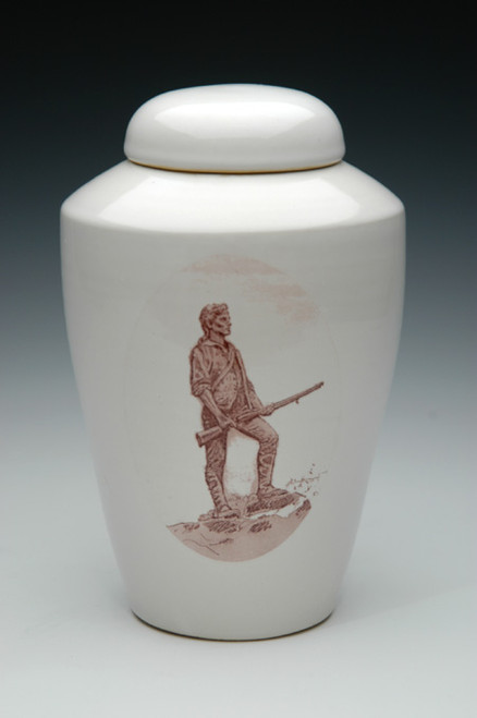 Minute Man Ceramic Cremation Urn | Military Funeral Urns
