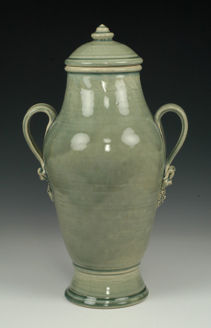 Tea Green Ceramic Cremation Urn