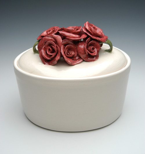 Oval Rose Urn | Funeral Urns for Ashes