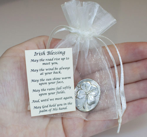 Pewter Shamrock Pocket Charms | Memorial Keepsake Gifts