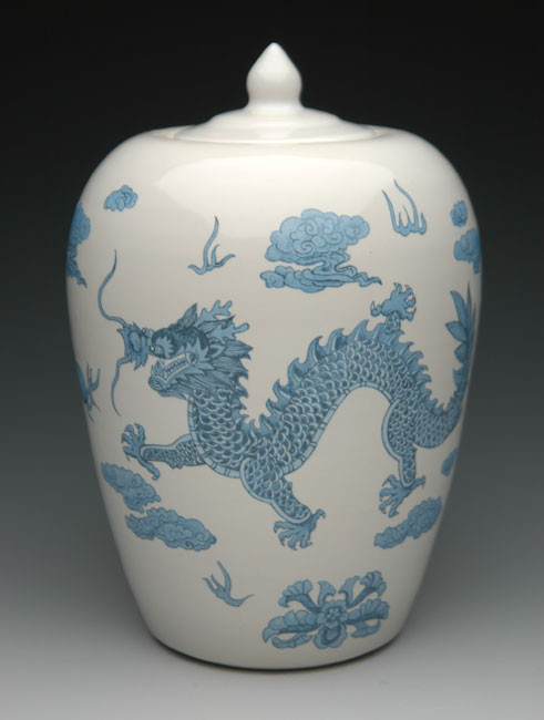 Dragon Urn | Ceramic Cremation Urn with Dragon Designs