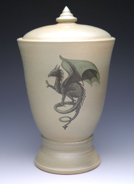 Gothic Dragon Urn | Ceramic Cremation Urns