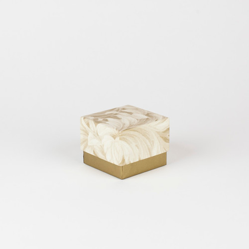Small Biodegradable Keepsake Urn in Gold Floral