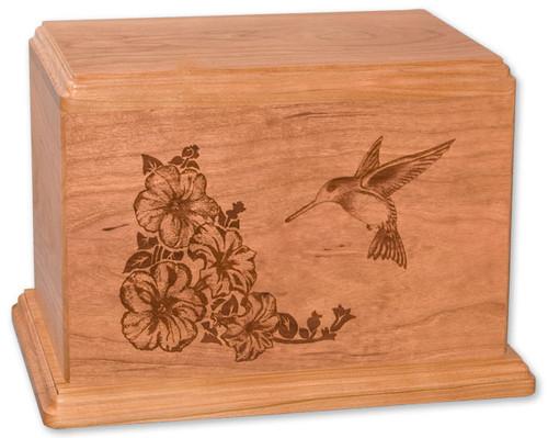 Laser Carved Hummingbird Urn