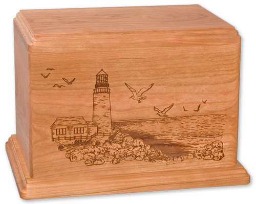 Laser Carved Lighthouse Urn