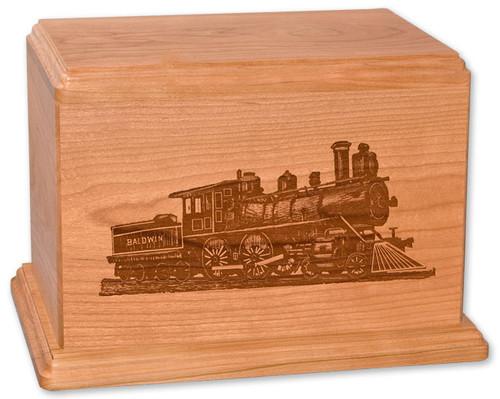 Laser Carved Train Cremation Urn