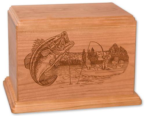 Laser Carved Boat Fishing Urn