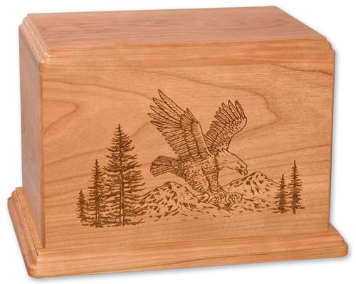 Laser Carved Eagle Urn | Cherry