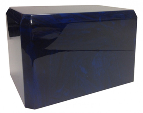 Cultured Marble Urn - Navy Blue