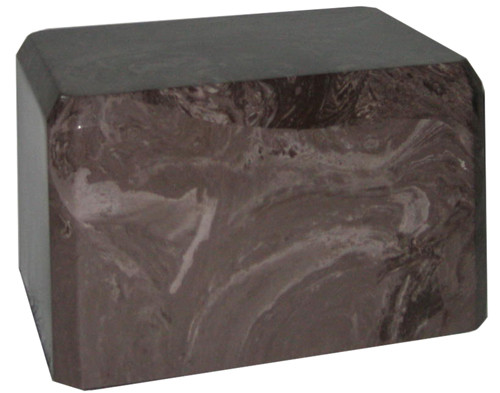 Cultured Marble Urn - Cocoa Brown