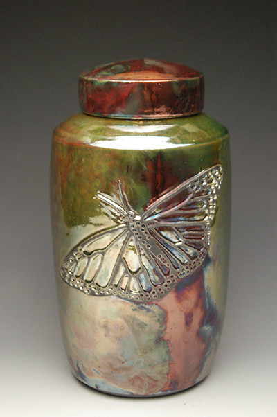 Butterfly Raku Urn | Each Urn Varies Slightly