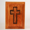 Cross Urn in Cherry Wood - Top