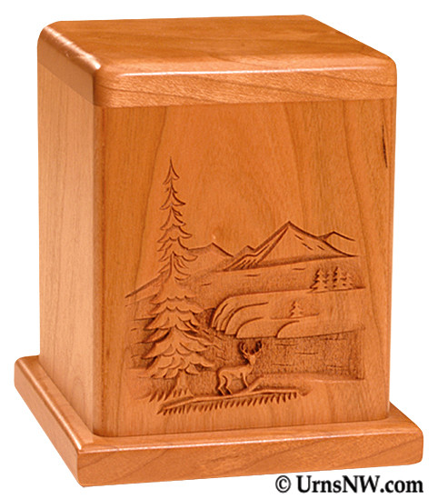 Deer Cherry Keepsake Urn
