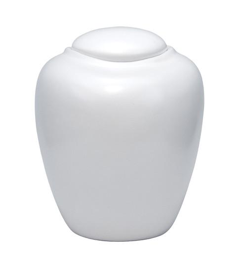 Sand & Gelatin Burial Urn - Pearl White