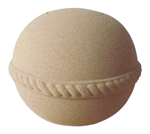Sand & Gelatin Burial Urn - Round with Natural Sand