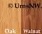 Wood Choices: Oak or Walnut wood