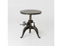 Element Nickel Crank End Table 22""