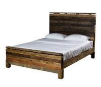 Modern Rustic Angora Queen Platform Bed Frame