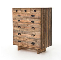 Angora Handcrafted 8 Drawer Wood Chest