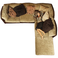 Almond 5 Piece Sectional