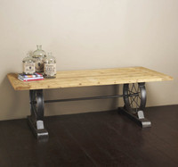 Post Industrial Wheel Dining Table