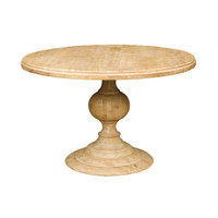 "48"" Round Pedestal Dining Table - Whitewash"