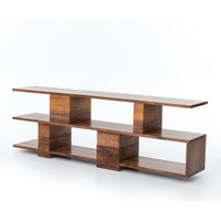 Bina Geometric Ginger Reclaimed Wood Console Table
